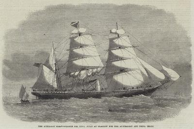 The Auxiliary Screw-Steamer Erl King, Built at Glasgow for the Australian and China Trade--Giclee Print