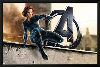 The Avengers: Age of Ultron - Black Widow--Lamina Framed Poster