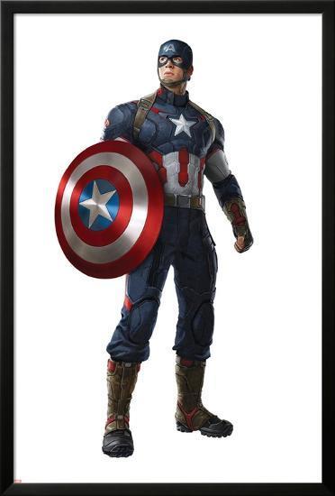 The Avengers: Age of Ultron - Captain America--Lamina Framed Poster
