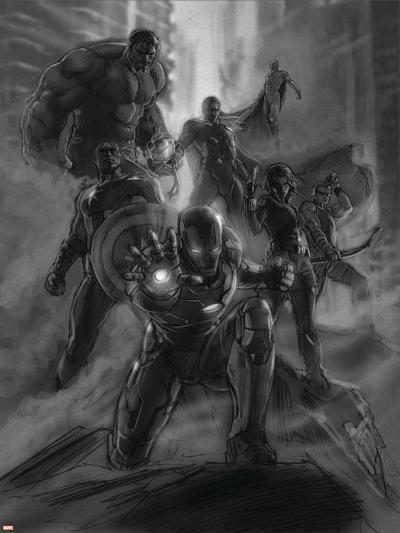 The Avengers: Age of Ultron - Concept Art Sketch--Art Print