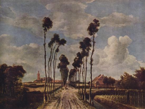 The Avenue At Middelharnis 1689 1938 Giclee Print Meindert Hobbema Art Com