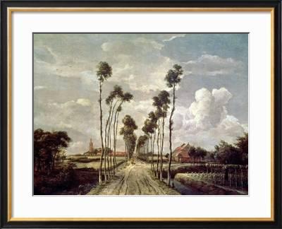 The Avenue At Middelharnis 1689 Giclee Print Meindert Hobbema Art Com