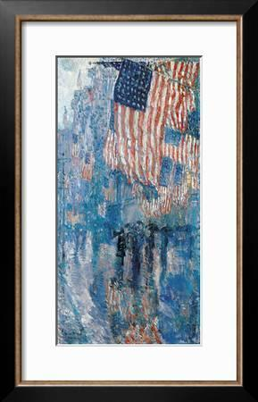 Childe Hassam The Avenue in the Rain Vintage Print