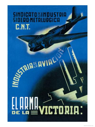 The Aviation Industry: The Arm of Victory-Vicente Cadena-Art Print