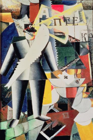 The Aviator, 1914-Kasimir Malevich-Giclee Print