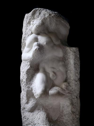 The Awakening Slave, by Michelangelo--Photographic Print