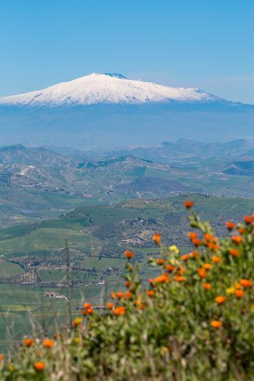 The Awe Inspiring Mount Etna, UNESCO World Heritage Site and Europe's Tallest Active Volcano-Martin Child-Photographic Print