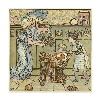 The Baby's Bouquet-Walter Crane-Giclee Print