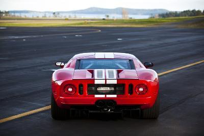The Back Of A  Horsepower Ford Gt Supercar On San Juan Island In Washington State Photographic Print By Ben Herndon Art Com