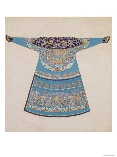The Back of a Summer Court Robe Worn by the Emperor, China--Giclee Print
