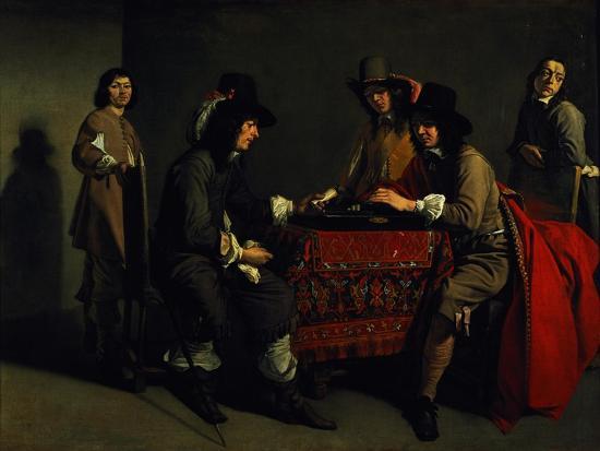 The Backgammon Players-Antoine & Louis Le Nain-Giclee Print