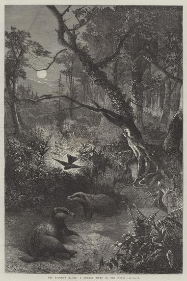 The Badger's Haunt, a Summer Night in the Woods-George Bouverie Goddard-Giclee Print