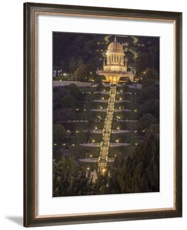 The Bahai Temple on Mt. Carmel-Richard Nowitz-Framed Photographic Print