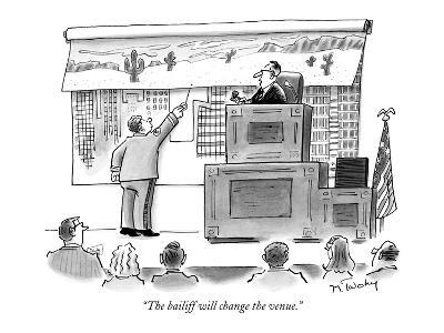 """""""The bailiff will change the venue."""" - New Yorker Cartoon-Mike Twohy-Premium Giclee Print"""