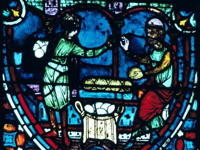 The Bakers, Stained Glass, Chartres Cathedral, France, 1194-1260--Photographic Print