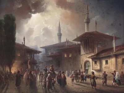 The Bakhchisaray Khan's Palace, 1857-Carlo Bossoli-Giclee Print