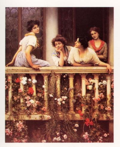 The Balcony-Eugene de Blaas-Art Print