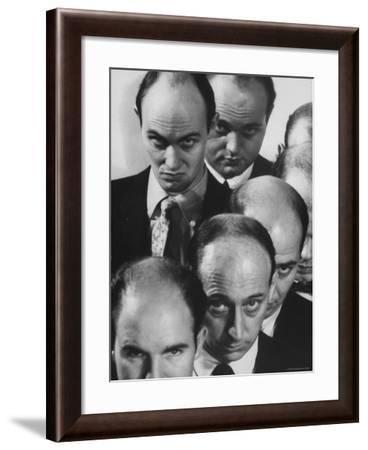 The Bald Heads of Relatively Young Men-Grey Villet-Framed Photographic Print