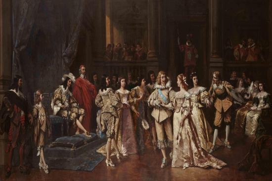 The Ball at the Court of Louis XIII of France-Wladyslaw Bakalowicz-Giclee Print