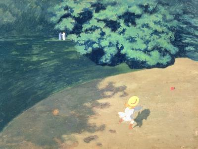 The Balloon or Corner of a Park with a Child Playing with a Balloon, 1899-F?lix Vallotton-Giclee Print