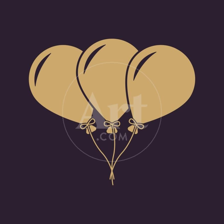 The Balloons Icon Fun And Celebration Birthday Symbol Flat Art