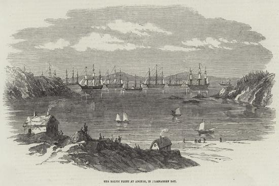 The Baltic Fleet at Anchor, in Elgsnabben Bay--Giclee Print