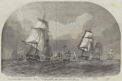The Baltic Fleet Leaving Spithead-Edwin Weedon-Giclee Print