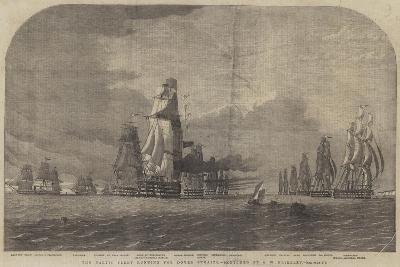 The Baltic Fleet Running for Dover Straits-Oswald Walters Brierly-Giclee Print