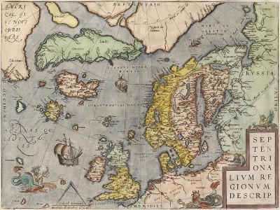 The Baltic Sea (From: Theatrum Orbis Terraru), C. 1608-1610-Abraham Ortelius-Giclee Print