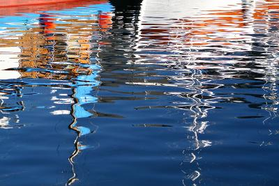 The Baltic Sea, Hiddensee, Neuendorf, Harbour, Reflection-Catharina Lux-Photographic Print