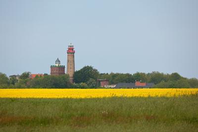 The Baltic Sea, RŸgen, Cape Arkona, Lighthouses, Rape Field, Summer-Catharina Lux-Photographic Print