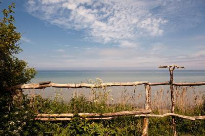 The Baltic Sea, R?gen, Coast, Fence-Catharina Lux-Photographic Print