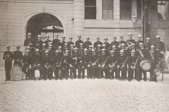 'The Band of the Rio Fire Brigade', 1914-Unknown-Photographic Print