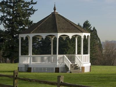The Band Stand on Officers Row in Fort Vancouver, Vancouver, Washington-Janis Miglavs-Photographic Print