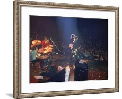 The Band the Sex Pistols Performing at their Last Show-David Mcgough-Framed Premium Photographic Print