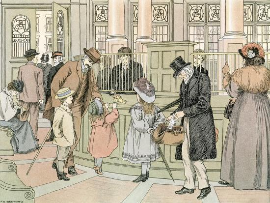The Bank, 1899-Francis Donkin Bedford-Giclee Print