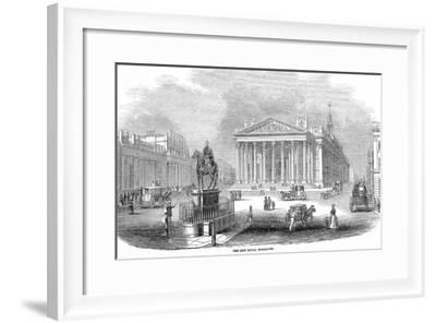 The Bank of England and the Royal Exchange, London, 1844--Framed Giclee Print