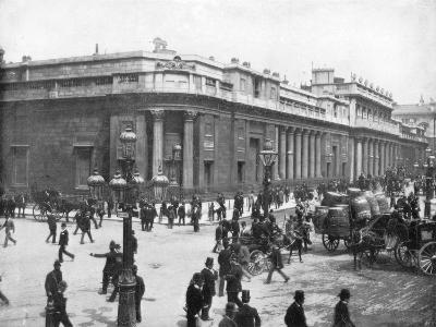 The Bank of England, London, Late 19th Century-John L Stoddard-Giclee Print