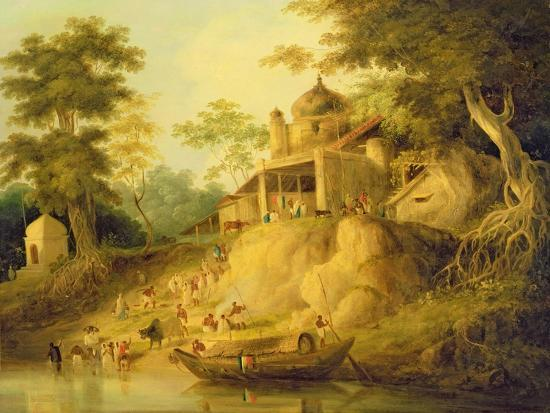 The Banks of the Ganges, c.1820-30-William Daniell-Giclee Print