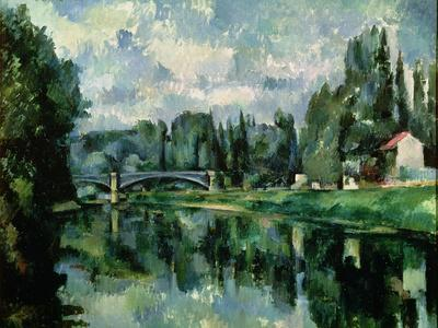The Banks of the Marne at Creteil, circa 1888-Paul C?zanne-Giclee Print