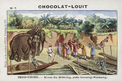 The Banks of the Mekong, Near Luang Prabang, Indochina--Giclee Print