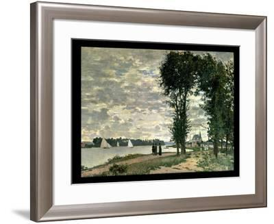 The Banks of the Seine at Argenteuil, 1872-Claude Monet-Framed Giclee Print