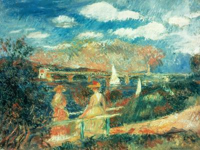 The Banks of the Seine at Argenteuil, 1880-Pierre-Auguste Renoir-Giclee Print
