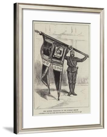 The Banner Presented to the Russian Legion--Framed Giclee Print