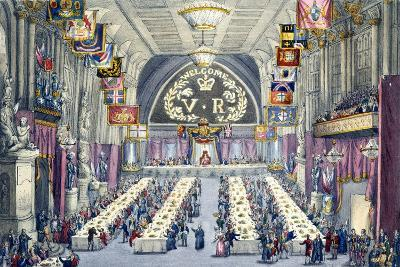 The Banquet at Guildhall, 9th November 1837--Giclee Print