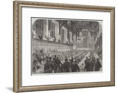 The Banquet Given to M Berryer in the Middle Temple Hall by the Members of English Bar--Framed Giclee Print