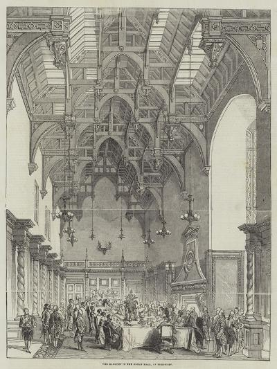 The Banquet in the Great Hall, at Burghley--Giclee Print