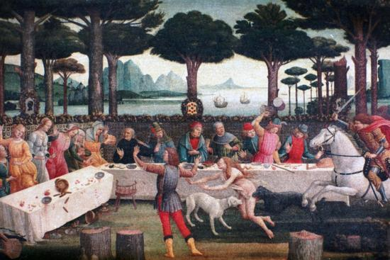 The Banquet in the Pine Forest, 1482-1483-Sandro Botticelli-Giclee Print