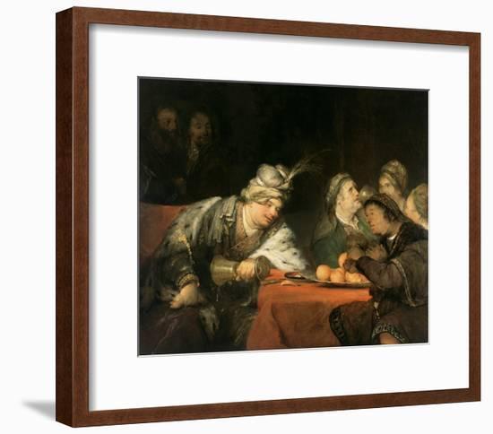 The Banquet of Ahasuerus-Aert de Gelder-Framed Art Print