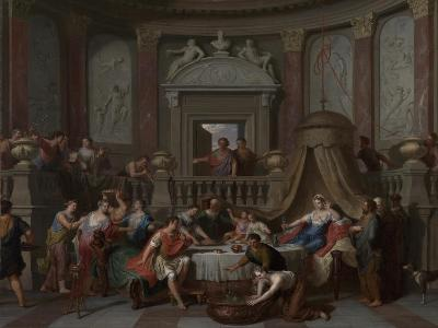 The Banquet of Cleopatra, c.1700-Gerard Hoet-Giclee Print